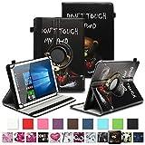 NAUC Tablet Schutzhülle für Sony Xperia Z4 aus Kunstleder Hülle Tasche Standfunktion 360° Drehbar Motiven Cover Universal Hülle, Farben:Motiv 10