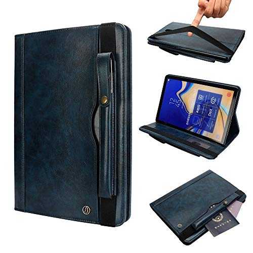 MOYOFEE JYMD AYCC Horizontal Flip Leather Case for Galaxy Tab S4 T830 10.5 inch, with Double Card Slots & Pen Slots & Holder & Wallet & Photo Frame(Black) (Color : Dark Blue)