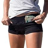 Women's Underwear with 2 Secret Zipper Pockets 100% Pickpocket & Loss Proof Tour Black