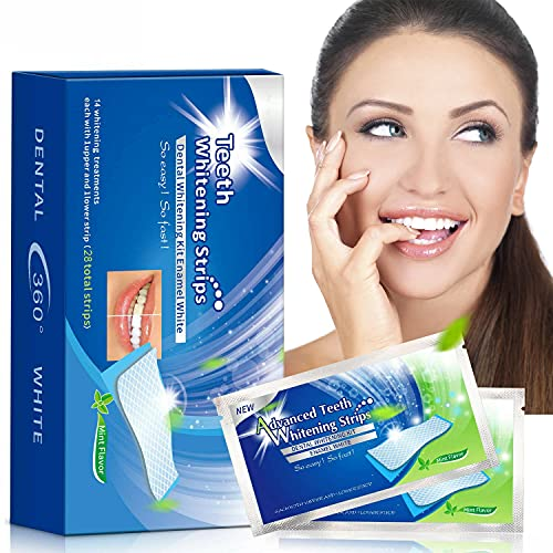 Zahnaufhellung-Streifen - Bleaching Stripes Set - White Stripes - Zahnbleaching - professionelles Bleaching für weiße Zähne - effektives Zahnpflege-Kit – Teeth whitening Kit - 56 Stück