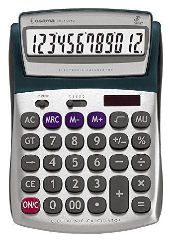 METAL calcolatrice 12 cifre da tavolo