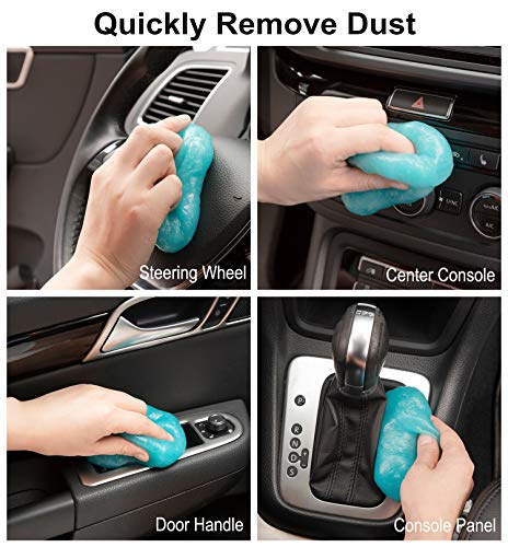TICARVE Cleaning Gel for Car Detailing Tools Keyboard Cleaner Automotive Dust Air Vent Interior Detail Detailing Putty Universal Dust Cleaner for Auto Laptop Home