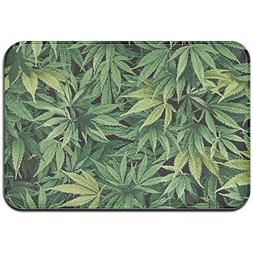 Green Weed - Felpudo antideslizante para puerta de casa