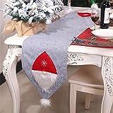 Weihnachtsdekorations Gewebe Waldmann Tabellen Flaggen Kreative Tischplattendekoration, QHJ Deko Weihnachten Tischdecke Fahne Kreativ Weihnachten Tischdekoration 175x35cm (A)