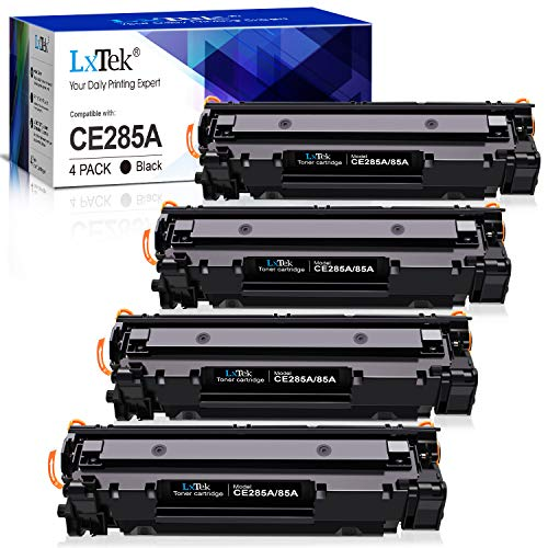LxTek Kompatibel Toner Ersatz für HP CE285A 85A für HP Laserjet Pro P1102W P1102 P1106 M1132MFP M1217NFW M1212NF M1132 P1100 M1136 M1210 M1212 (4 Schwarz)