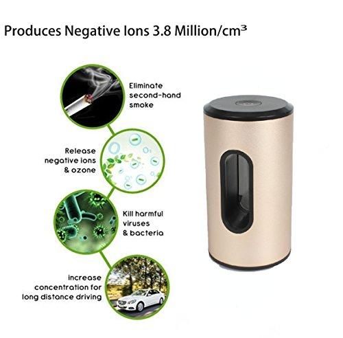 Smart Platinium Purificador de aire generador de ozono removedor de olores   USB recargable portátil para coche