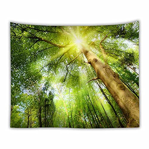 Paisaje natural tapiz de bosque verde paisaje colgante de pared decoración de arte para el hogar tapiz de pared tapiz de paisaje alfombra fina A2 180x230cm