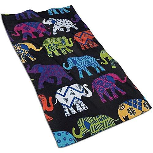 Snbin Elefantes Negros Toallas de Microfibra Toallas Toallas de Secado rápido Toallas Deportivas (40x70cm) Uso para Viajes, Fitness, Yoga