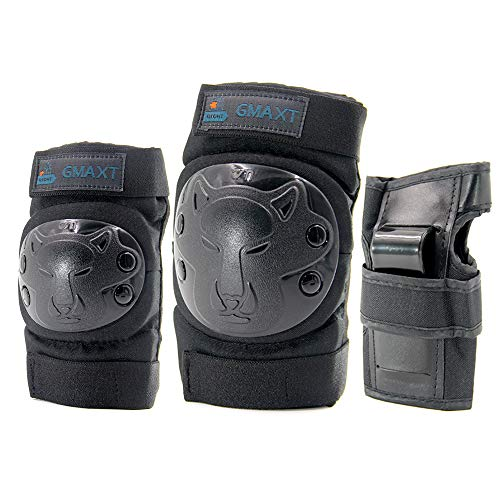 GMAXT Child-Youth Knee Pads Elbow Pads Wrist Guards,3 in 1 Thicken Protective Gear Set,Suitable for Skateboards,Roller Skates,Cycling Biking, 3-12 Years Old for Boys and Girls Best Choice