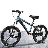 HWF Bicicleta Sin Pedales 20 Pulgadas Bicicleta de Equilibrio con Frenos Grande Sin Pedal Portátil Bicicleta para niños Grandes/Adultos Edades de 7 a 12 años, Asiento Ajustable, Carga 100kg