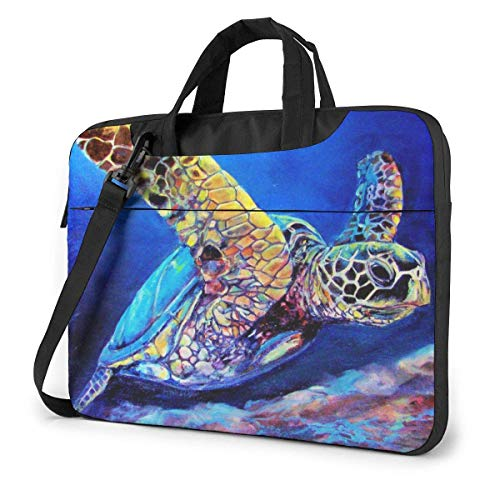 XCNGG Computertasche Umhängetasche Laptop Bag Carrying Laptop Case, Sea Turtles Computer Sleeve Cover with Handle, Business Briefcase Protective Bag for Ultrabook, MacBook, Asus, Samsung, Sony, Notebo