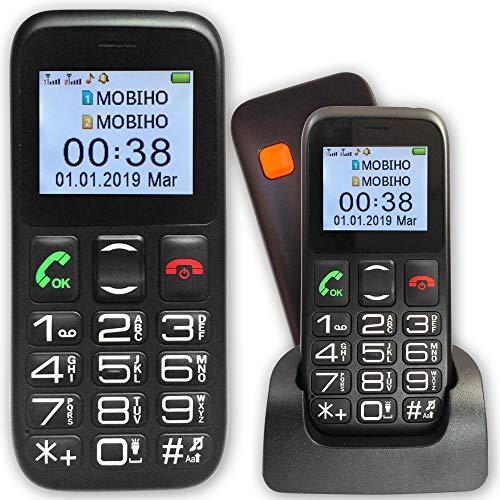 Mobiho-Essentiel der Classic Eco – ein Senioren-Handy, schönes Design & leicht, nur zum Handyieren, für ältere Benutzer, der das Wesentliche tun möchte. SOS-Taste – Deaktiviert jede SIM-Karte.