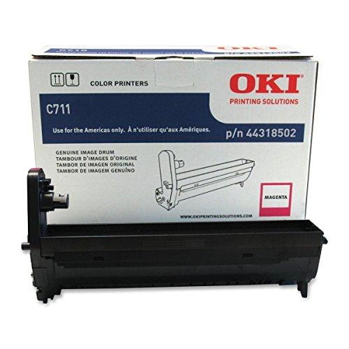 44318502 Okidata 44318502 OEM Magenta Imaging Drum Unit, Okidata C711 Series Works with: Okidata C711dn 34-36PPM Color Laser Printer Okidata C711dtn OEM