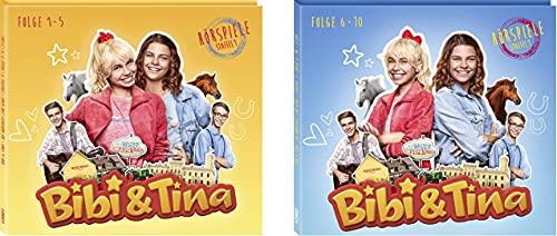 Bibi & Tina - Hörspiele zur Prime Serie CD 1 + 2 (Folgen 1 - 10) im Set - Deutsche Originalware[4 CDs]