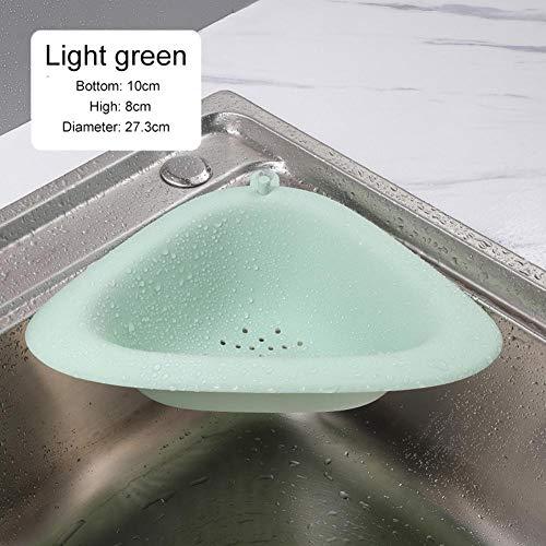 lolly-U Küchenablaufkorb, multifunktional, langlebig, mit starkem Saugnapf, Abflusssieb für Eckstütze lichtgrün