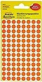 AVERY Zweckform 3177 selbstklebende Markierungspunkte (Ø 8 mm, 416 Klebepunkte auf 4 Bogen, runde Aufkleber für Kalender, Planer und zum Basteln, Papier, matt) Orange