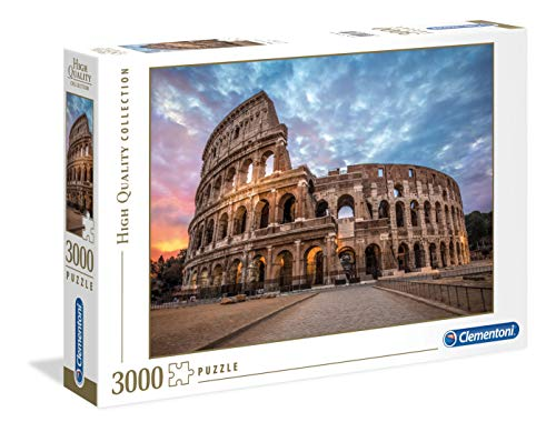 Clementoni - 33548 - High Quality Collection Puzzle - Coliseum Sunrise - 3000 Pezzi - Made In Italy - Puzzle Adulto