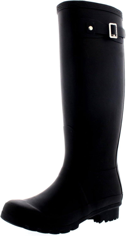 Polar Womens Original Tall Snow Winter Wellington Waterproof Rain Wellies Boot - Black - 7-38 - CD0001