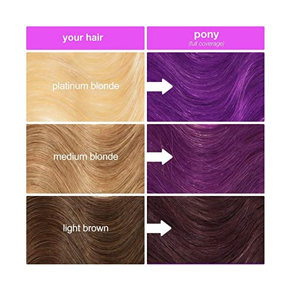Lime Crime Unicorn Hair Dye, Pony - Electric Violet Purple Hair Color - Full Coverage, Ultra-Conditioning, Semi… 8