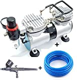 Elephant Double Piston Mini Air Compressor and Painter Air Brush with 3 m