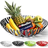 Mueller Fruit Basket, Decorative Fruit Bowl, Fruit and Vegetables Holder for Counters, Kitchen, Countertop, Home Decor, European Made, Gray