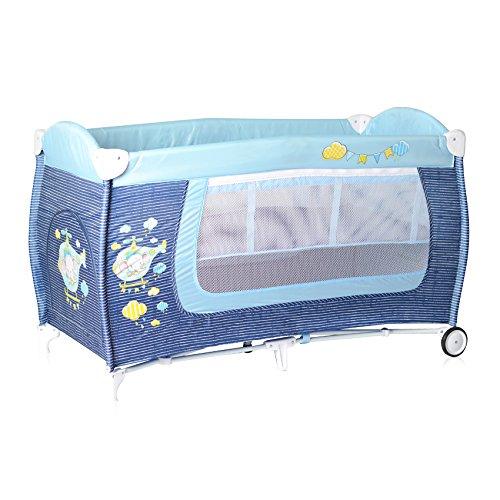 Lorelli 10080361816 Lit Parapluie à 2 Niveaux Danny 2 Bleu