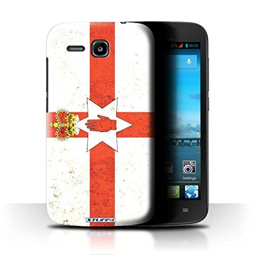 Stuff4® Hülle/Case für Huawei Ascend Y600 / Nordirland/Irische Muster/Flagge Kollektion