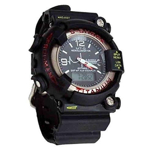 c5b4a8518 VITREND S-Shock Titanium Dual Time Digital-Analogue Black Dial Men's Sports  Watch