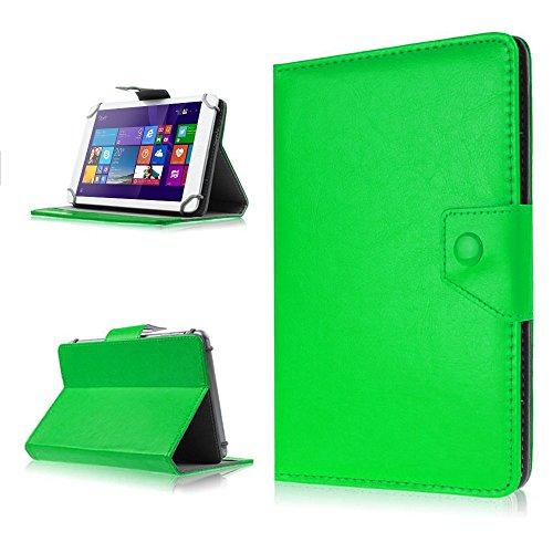 NAUC Tasche Hülle für ODYS Ieos Quad 10 Pro Schutzhülle Tablet Cover Hülle Bag Etui, Modellauswahl:Grün mit Magnetverschluss