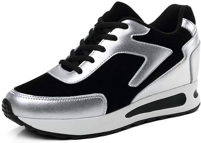 ZCW Chaussures polyvalentes Occasionnels , Femmes Taille-Creuse chaussuresthicken-Soled chaussuresflat Chaussures décontractées augmenté Chaussures de Sport coréen