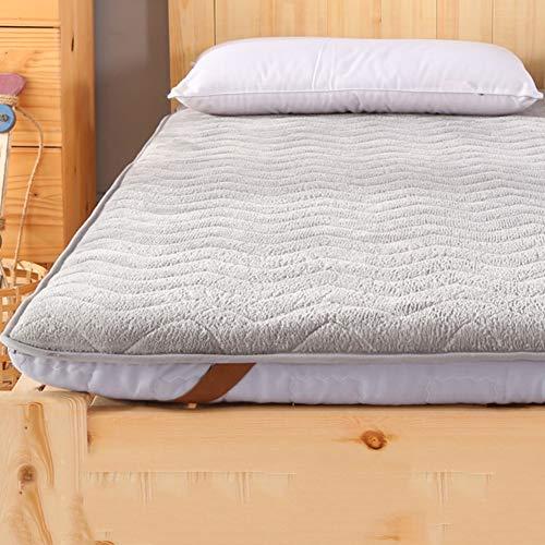 Flanella Tatami per Dormire Bed Ground, Addensare Topper Materasso Reversibile Traspirante Soft Futon Tatami Materasso Pad Camera da Letto Dormitorio-Grigio 120x190cm(47x75inch) 120x190cm(47x75inch)