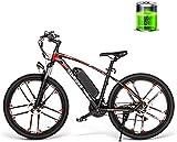 RDJM Bici electrica Montaña Bicicleta eléctrica de 26 Bicicletas de montaña de Viaje de Alta Velocidad Bicicleta eléctrica de 48V 350W 8AH Masculino y Femenino Adulto Off-Road Pulgadas de 30 km/H