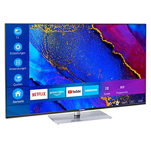 MEDION X16564 163,9 cm (65 Zoll) UHD Fernseher (Smart-TV, 4K Ultra HD, Dolby Vision HDR, MEMC, Micro Dimming, Netflix, Prime Video, WLAN, Triple Tuner, DTS, PVR, Bluetooth)
