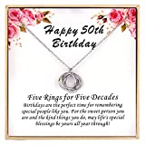 Birthday Gifts for Women, 30TH 40TH 50TH 60TH 70TH 80TH 90TH Birthday Gifts, Happy Birthday Necklace, 925 Sterling Silver Birthday Necklace, Birthday Jewelry for Women