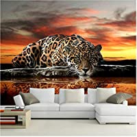 Xbwy 装飾壁画壁紙高品質のヒョウの壁カバーリビングルームソファベッドルームテレビ背景-150X120Cm