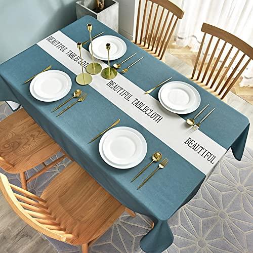 XXDD Tovaglia in Tessuto Impermeabile e Resistente all'olio USA e Getta antiscottatura tovaglia casa tavolino tovaglia A17 140x140 cm