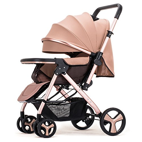 Baby Pram Stroller Pushchairs Buggy Safe and Care Four Wheel Foldable Adjustable Jogger Travel...