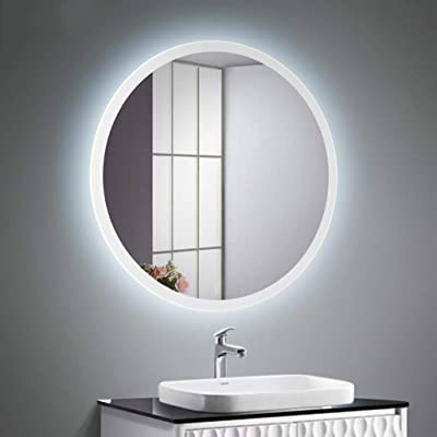Amazon Com Gasonny 32 X 20 Inch Led Bathroom Mirror Dimmable Anti Fog Large Bathroom Lighted Vanity Mirror Oval Waterproof Wall Mounted Makeup Mirror With Led Light Vertical And Horizontal Installation Kitchen Dining