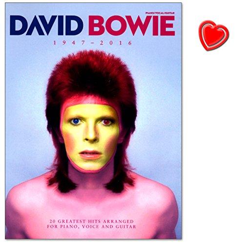 David Bowie 1947-2016 - Songbook enthält über 20 von David Bowies größten Hits seiner gesamten Karriere von 1969 bis 2016 - Notenbuch mit Notenklammer - AM1011670-9781785582769