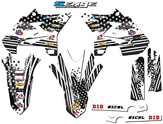 Compatible with Yamaha 2002-2004 UFO Restyled YZ 125/250 (2-Stroke), Merica MATTE BLACK Base Graphics Kit