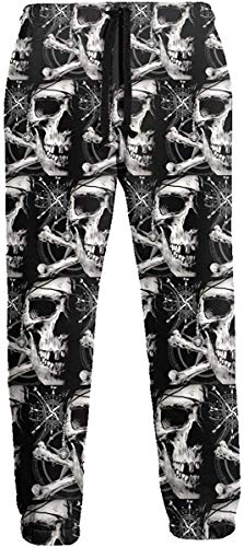 Funny Z Skull of Black Flag Jogginghose Athletic Jogger Pant Athletic Pant Laufhose für Herren XXL