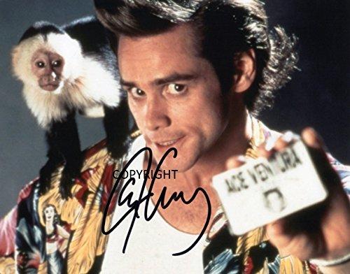 Fotografia autografata di Jim Carrey nel film Ace Ventura, dotata di certificato di autenticità