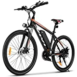 VIVI Electric Bike, 26' Electric Mountain Bike, 350W Electric Bicycle, Electric Bikes for Adults with Removable 10.4Ah Lithium-ion Battery, Professional 21 Speed Gears
