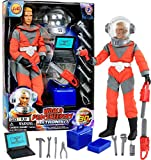 Click N' Play 12' Astronaut Action Figure Space Exploration Playset with Accessories.