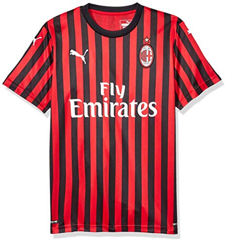 PUMA Youth A.C. Milan Licensed Replica Jersey 2019-2020, Medium, Home