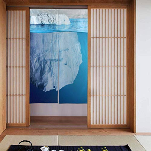 Iceberg - Paneles de cortina opacas para habitación de niñas, guardería esencial, cortinas opacas con aislamiento térmico, 86,6 x 132,8 cm