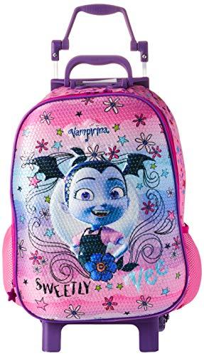 Mala Escolar G com Rodinhas Disney Vampirina, 41 X 30 X 14, Dermiwil 52198, Multicor
