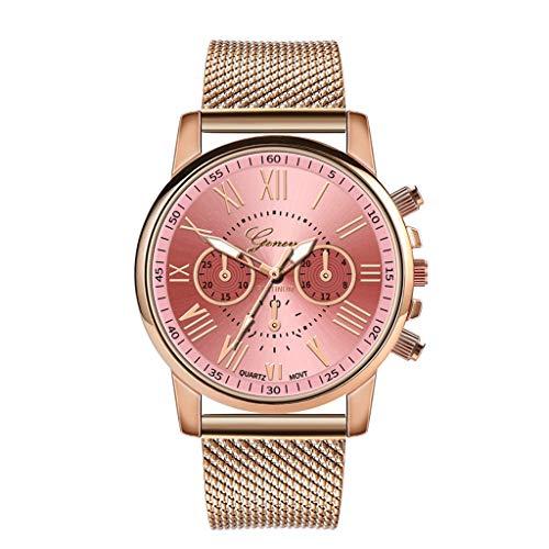 Relojes Para Mujer Reloj de pulsera de acero inoxidable de acero inoxidable deportivo de cuarzo reloj de pulsera reloj de pulsera regalo regalo de San Valentín regalo Relojes Decorativos Casuales Para