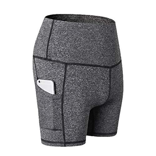 Yowablo Herren Shorts Trainingsshorts Kompressionsshorts Tiefschütz Boxershorts Compression Shorts Kurze Tight (L,2Grau)