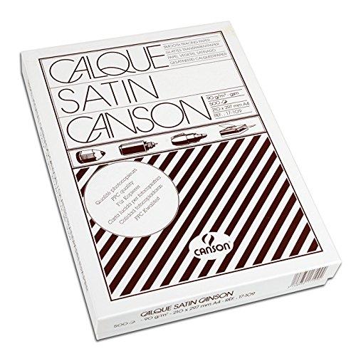 Canson 17109 Carta Lucida, A4, 90-95 G/MQ,